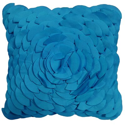 Dimensional Peony Indoor/Outdoor Throw Pillow Color: Royal Blue