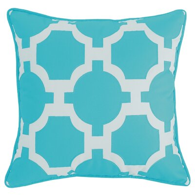 Garden Indoor/Outdoor Lumbar Pillow Color: Aqua/White