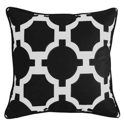Garden Links Indoor/Outdoor Throw Pillow Color: Black/White