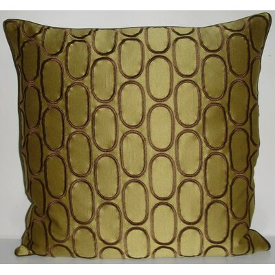 Oval Pod Embroidery Throw Pillow Color: Dijon