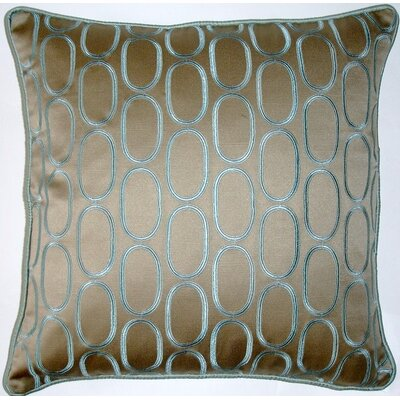 Oval Pod Embroidery Throw Pillow Color: Taupe/Mineral