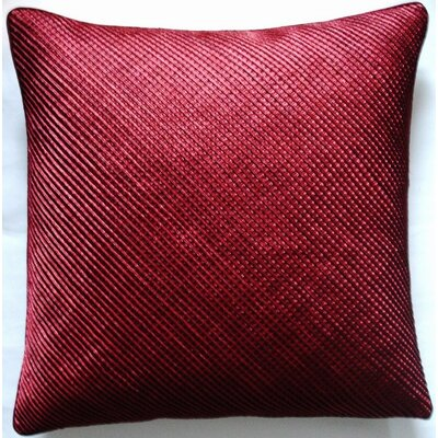Mini Grid Corp Throw Pillow Color: Red