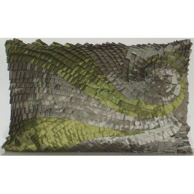 Ombre Pleated Swirl Lumbar Pillow
