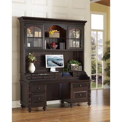 iQuest Furniture Barton Park Credenza Desk with Hutch - Finish: Vintage Malbec at Sears.com