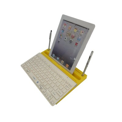 0.8 H x 13 W Desk Keyboard Platform Color: Yellow