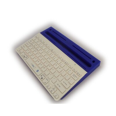 1 H x 13 W Desk Keyboard Platform Color: White/Dark Blue