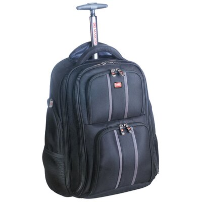 """Mancini Biztech 17"""" Innovative Wheeled Laptop/Tablet Rolling Backpack at Sears.com"""