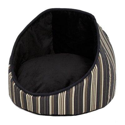 Quiet Time Cabana Reversible Stripes Bolster Dog Bed Color: Black