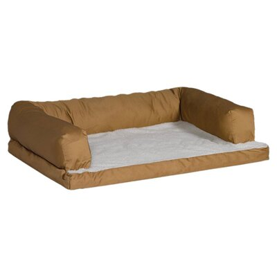 "Quiet Time e'Sensuals Orthopedic Sofa Dog Furniture Style Size: Large (40"" L x 30"" W), Color: Tan"