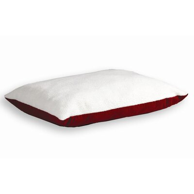 Quiet Time eSensuals Synthetic Sheepskin and Poly-Cotton Encased Extra Stuffed Polyfiber Rectangle Dog Pillow Size: Large (48 L x 36 W), Color: Burgundy