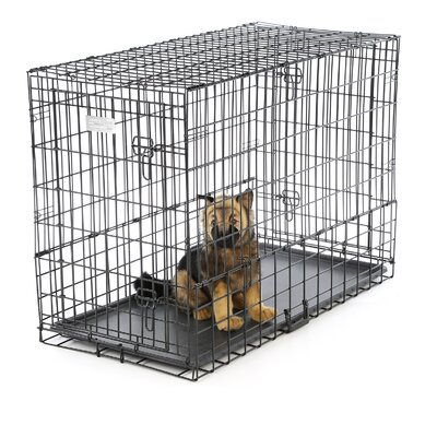 Solutions Side By Side Double Door Pet Crate Size: Large (30 H X 21 W x 42 L)