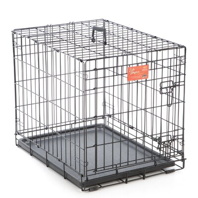 Life Stages Fold & Carry Single Door Pet Crate Size: Small (21 H x 18 W x 24 L)