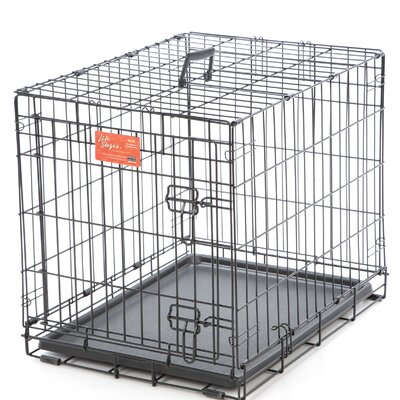 Life Stages Fold & Carry Single Door Pet Crate Size: X-Small (16 H x 13 W x 22 L)