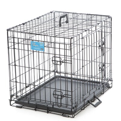 Life Stages Fold & Carry Double Door Pet Crate Size: Small (21 H x 24 W x 18 D)