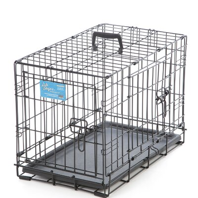 Life Stages Fold & Carry Double Door Pet Crate Size: X-Small (16 H x 22 W x 13 D)