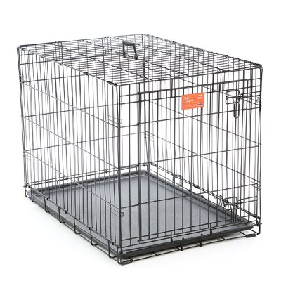 Camila Life Stages Fold & Carry Single Door Pet Crate Size: Intermediate (27 H x 24 W x 36 L)