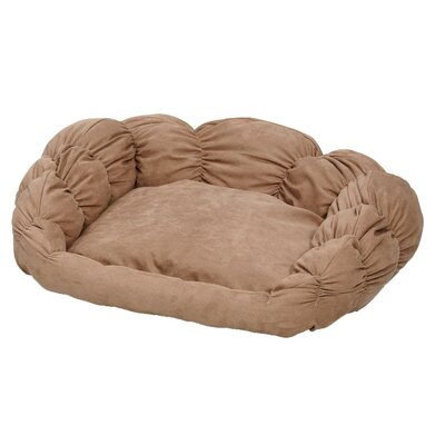 "Quiet Time Scalloped Shar-Pei Bolster Dog Bed Size: Small (25.5"" D x 22"" W)"