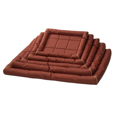 Albert Maxx Ultra-Rugged Dog Bolster Size: Extra Large (48 L x 31 W), Color: Brick