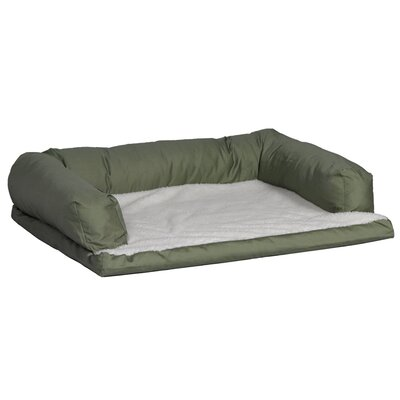 Quiet Time eSensuals Orthopedic Sofa Dog Furniture Style Size: Large (40 L x 30 W), Color: Sage Green