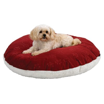 Quiet Time eSensuals Round Pet Bed Size: Medium (34 W x 34 D), Color: Burgundy