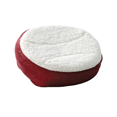 Round Dish Dog Pillow Color: Burgundy