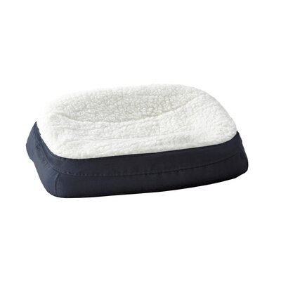 "Rectanglular Dish Dog Pillow Size: Small (23.75"" L x 17"" W ), Color: Navy"