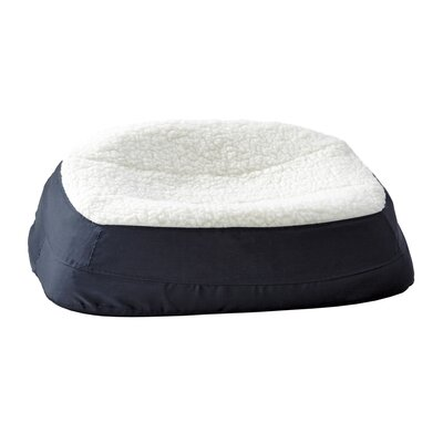 "Rectanglular Dish Dog Pillow Color: Navy, Size: Medium (27.75"" L x 20"" W )"