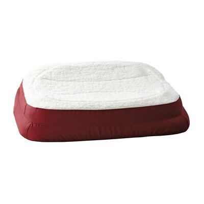 "Rectanglular Dish Dog Pillow Color: Burgundy, Size: Large (35.5"" L x 24.5"" W )"