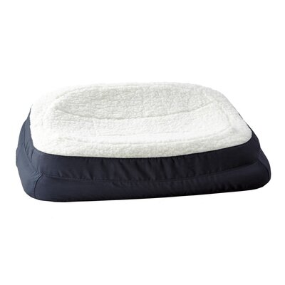 "Rectanglular Dish Dog Pillow Color: Navy, Size: Large (35.5"" L x 24.5"" W )"