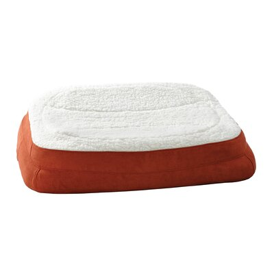 "Rectanglular Dish Dog Pillow Color: Spice, Size: Large (35.5"" L x 24.5"" W )"