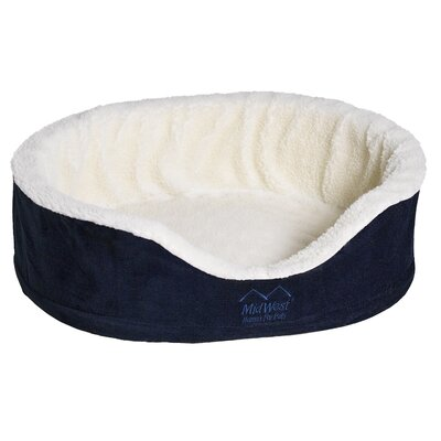 Quiet Time eSensuals Orthopedic Bolster Pet Bed Size: X-Large (42 W x 28 D), Color: Navy Blue