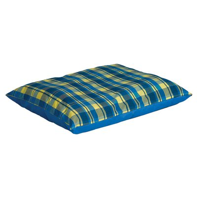 Quiet Time eSensuals Indoor / Outdoor Rectangle Dog Pillow Size: Large (48 L x 36 W), Color: Blue and Yellow Plaid