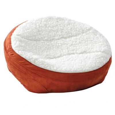 Round Dish Dog Pillow Color: Spice