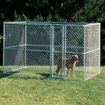 Bethany Steel Chain Link Portable Yard Kennel Size: (72 H x 72 W x 120 L)