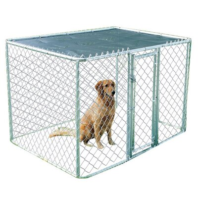 Steel Chain Link Portable Yard Kennel Size: (48 H x 72 W x 72 L)