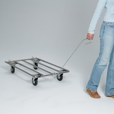 Pet Crate Dolly with Rope Handle