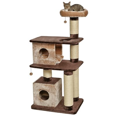 66 Feline Nuvo Grand Camelot Multi-Level Cat Condo