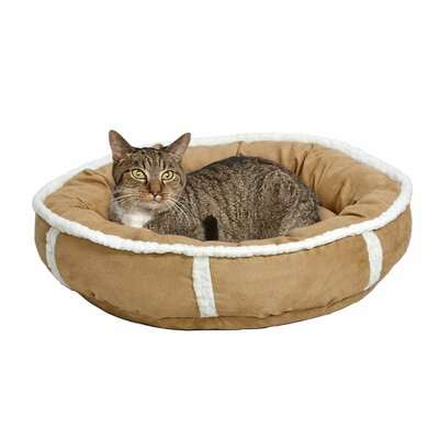 Quiet Time Deluxe Rondelle Bed Size: Small - 21 L x 21 W, Color: Khaki