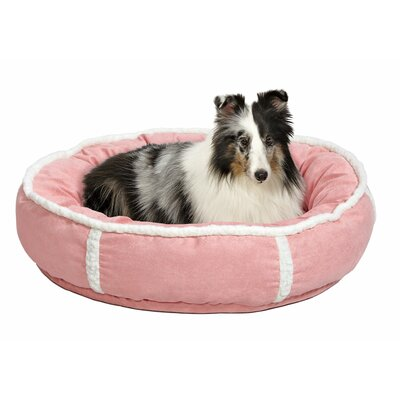 Quiet Time Deluxe Rondelle Bed Size: Large - 28 L x 28 W, Color: Pink