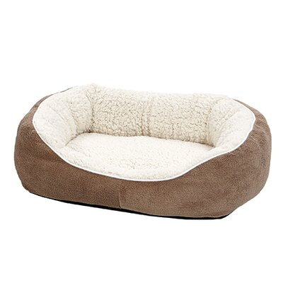 Quiet Time Boutique Cuddle Bed Color: Taupe, Size: Small - 22 L x 19.5 W