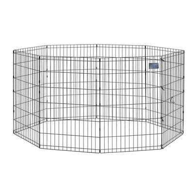 Black E-Coat Exercise Pet Pen Size: Small (30 H x 24 W)