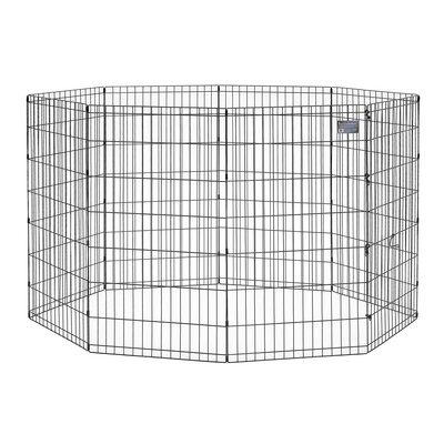 Apollo Black E-Coat Exercise Pet Pen Size: Medium (36 H x 24 W)