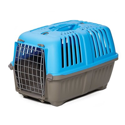 Spree� Travel Pet Carrier Size: 12.75 H x 12.38 W x 18.75 L, Color: Blue