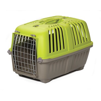Spree� Travel Pet Carrier Size: 12.75 H x 12.38 W x 18.75 L, Color: Green