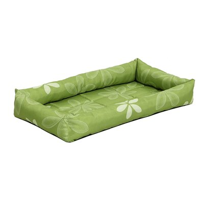 Quiet Time Defender Series Paradise Floral Pet Bed Size: 22 L x 13.5 W, Color: Green