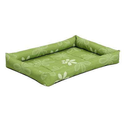 Quiet Time� Defender� Series Paradise Floral Pet Bed Color: Green, Size: 23.75 L x 17.5 W