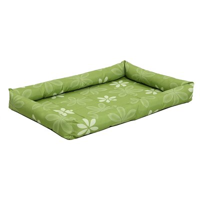 Quiet Time� Defender� Series Paradise Floral Pet Bed Color: Green, Size: 30 L x 21.25 W