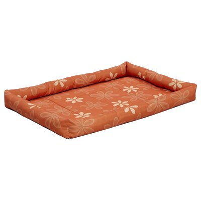 Quiet Time� Defender� Series Paradise Floral Pet Bed Color: Orange, Size: 36 L x 24 W