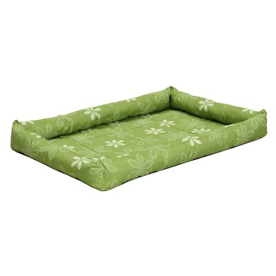 Quiet Time� Defender� Series Paradise Floral Pet Bed Size: 42.25 L x 27 W, Color: Green