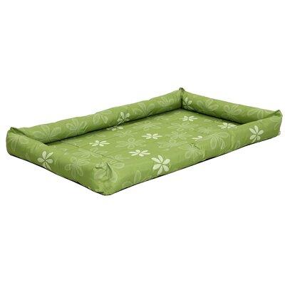 Quiet Time Defender Series Paradise Floral Pet Bed Size: 47 L x 29.75 W, Color: Green